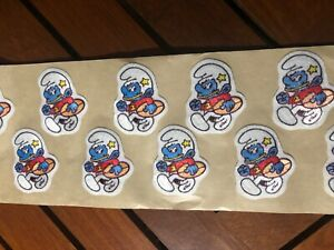 "12 LOT WANT TO SMURF AROUND IRON ON PATCH 1 3//4"" X 2"""