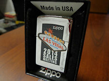 ZIPPO EMPLOYEE 2014 SALES MEETING LAS VEGAS, NV ZIPPO LIGHTER MINT IN BOX RARE
