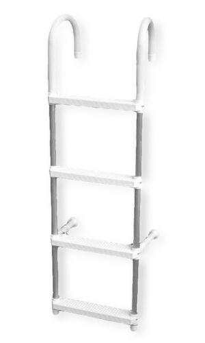 Alu Klapp-Badeleiter GAMMA 4 Stufen Heckleiter NEU 7363