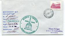 1985 Befordert Mit Helikopter Antarktis III Polarstern Antarctic Cover SIGNED