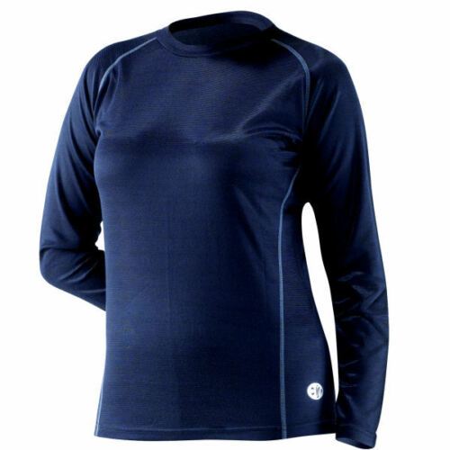 EDZ Cool Climate Merino Wool Base Layer Ladies Crew Neck Shirt Top Motorbike Ski