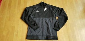 Details zu Adidas Herren Jacke Trainings Jacket schwarzgrau Trio17 Gr. L Neu mit Etik