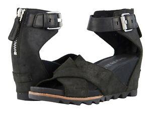SOREL Joanie II Strap Wedge Sandals Women/'s Platform Casual Dress Shoes