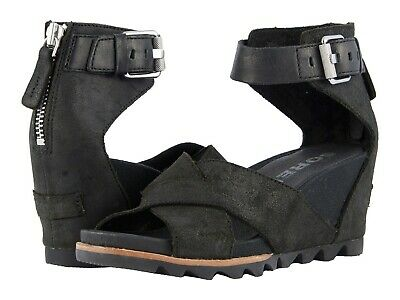 SOREL Joanie II Ankle Strap Wedge Sandals Women's Platform Casual Dress Shoes | eBay
