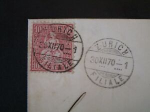 Switzerland-1870-10c-Carmine-on-Cover-Z4970