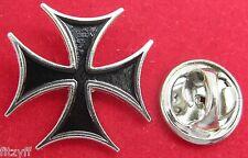 Maltese Cross Lapel Hat Cap or Tie Pin Badge Brooch Iron cross Amalfi Malta