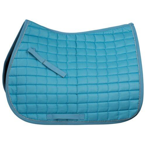 Horze Full Horse Turquoise Blue All Purpose English Show Saddle Blanket Pad
