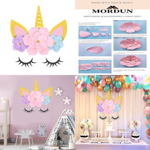 MORDUN Unicorn Party Supplies /& Decorations Backdrop For Girls Birthday Baby Sho