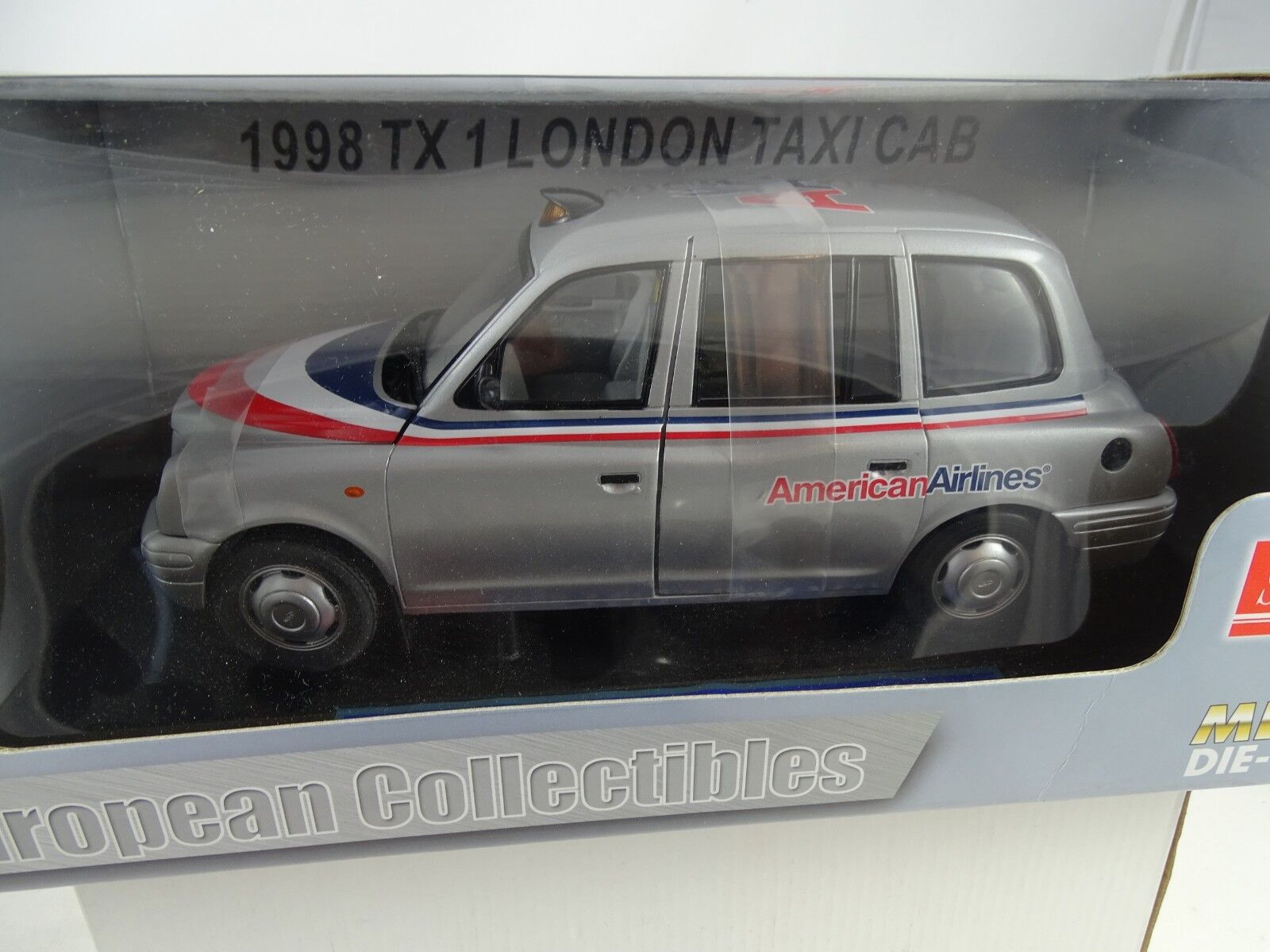 1 18 SUN STAR  1123 1998 Taxi Londres Cab American Airlines RARE §