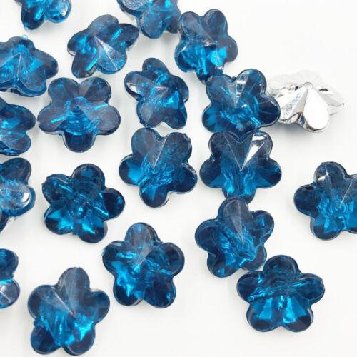 100 pcs Acrylic Rhinestone FlatBack Flowers stones and crystals Clothing crafts