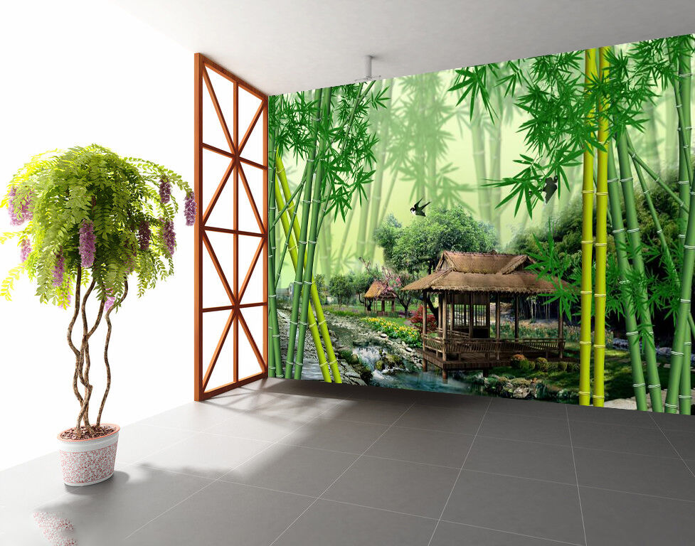 3D Forest cottage 366 Wall Paper Wall Print Decal Wall Deco Indoor Wall Murals