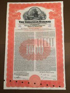Virginian Railway bond Anleihe 1000 Dollar 1945 - Sankt Peter-Ording, Deutschland - Virginian Railway bond Anleihe 1000 Dollar 1945 - Sankt Peter-Ording, Deutschland