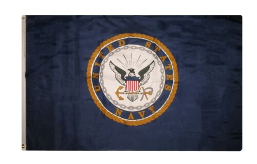 Navy Seal Emblem Crest Flag Rough Tex Knitted Hoisting House Banner 3x5 ft U.S