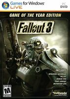 Fallout 3 Game Of The Year Edition Pc Goty Brand Factory Sealed Fast Ship