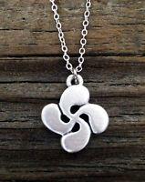 Small Lauburu Or Basque Cross Necklace
