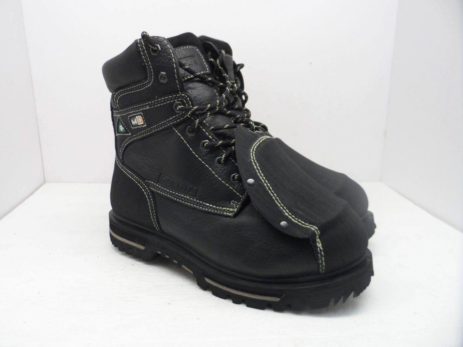 DAKOTA Men's 514 8  Steel Toe Steel Plate Metguard Work Boots Black Size 10.5M