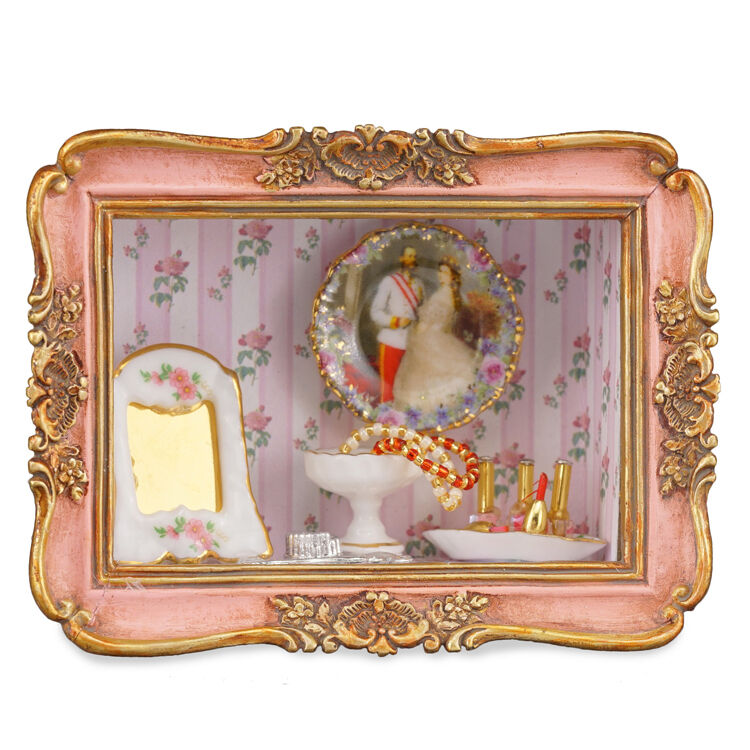 Reutter Porzellan Nostalgie Mural Boudoir Frame Dollhouse 1 12 -1.719 1