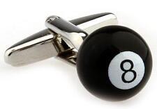 Eight Ball 8 Cufflinks Pool Billiards Wedding Fancy Gift Box Free Ship USA