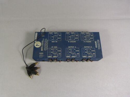 MTI UVA4C Universal Video And Audio 1-4 Distribution Amplifier WOW !