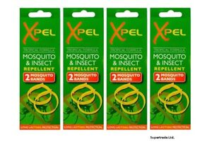 Adult-Xpel-Tropical-Formula-Mosquito-amp-Insect-Repellent-Bands-DEET-FREE-X-4