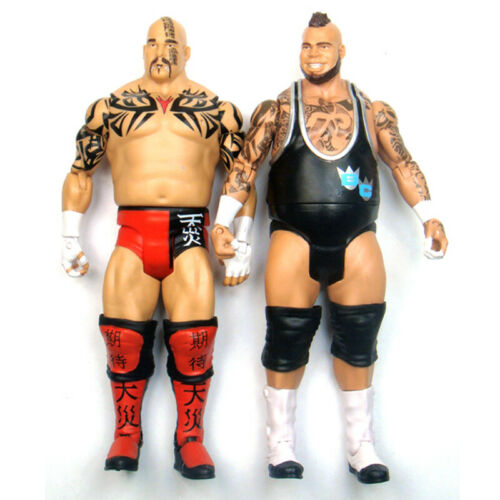 2x WWE Tensai /& Brodus Clay Wrestling Action Figure Kid Child Toys Battle Packs