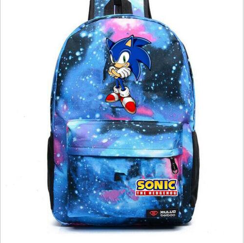 Sonic the Hedgehog Backpack Travel Bag Boys Girls Schoolbag Mochila Rucksack