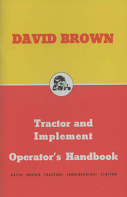 Tractor Manuals & Publications David Brown 25d 30d Tractor And Implement Operators Handbook Soft And Antislippery David Brown