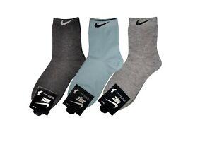 Mártir lavabo Útil  Nike Mujeres Alto Cuarto Calcetines -2 pares de un solo color - 5 pares  Multicolor-Lite   eBay