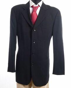 HUGO BOSS Sakko Jacket Sokrates Gr.106 schwarz gestreift Einreiher 3-Knopf -S637