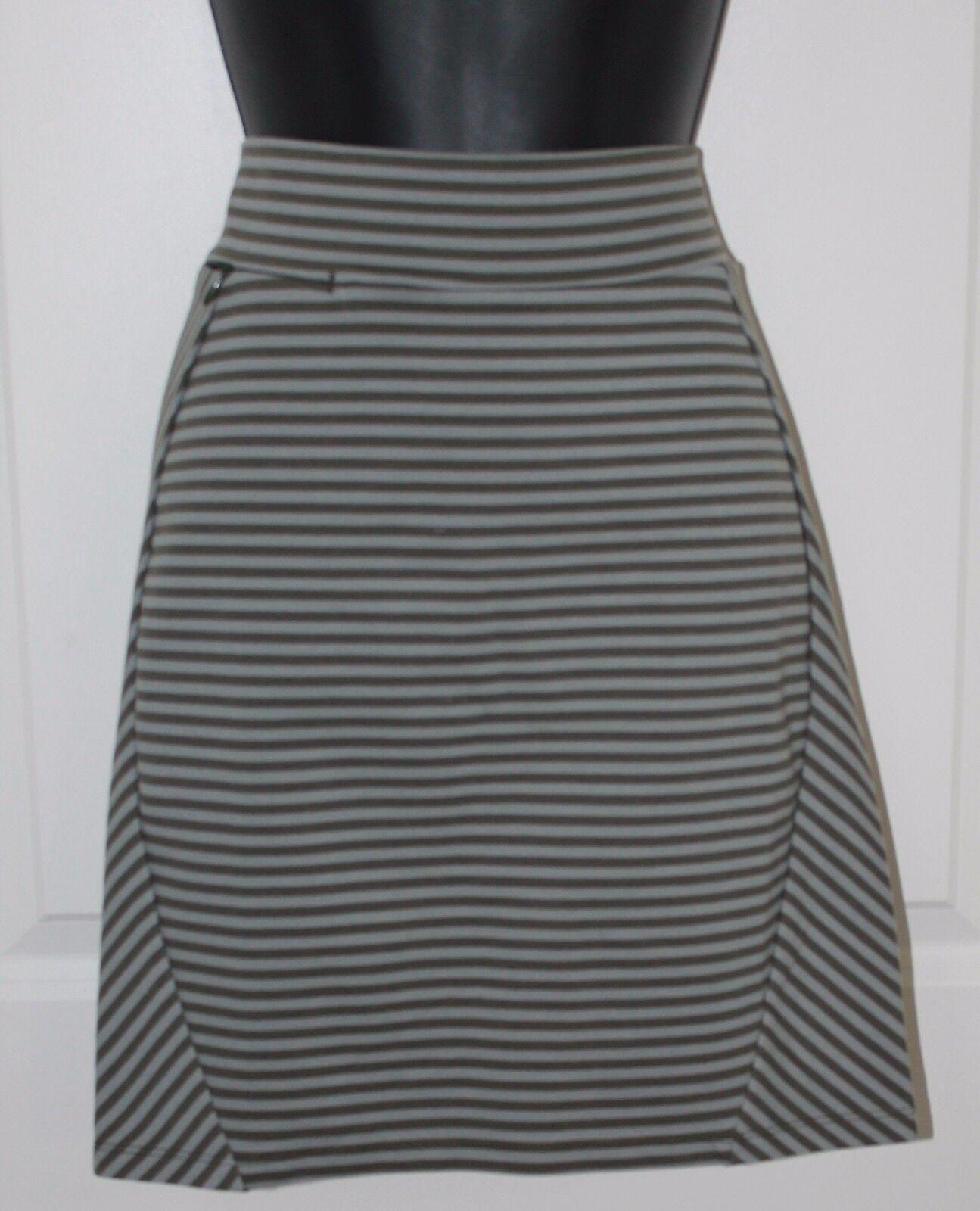 Toad & Co Transita Skirt Dark Moss Stripe Womens Medium