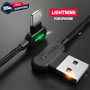 Cavo-di-ricarica-veloce-Iphone-Lightning-Caricatore-10-FT-L-REVERSIBILE-USB-INFRANGIBILE