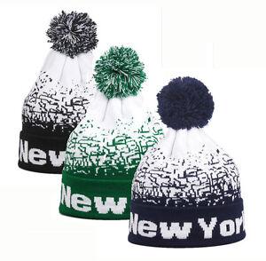 36dfeb2d7c1 Men Women Baggy Warm Winter Wool Knit Ski Beanie Skull Slouchy Caps ...