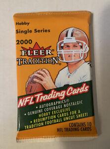 2000-FLEER-TRADITION-Football-HOBBY-Pack-Tom-Brady-Rookie