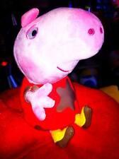 NEW peluche - Peppa Pig gonnellina rossa sporca fango  18 .cm MORBIDO original