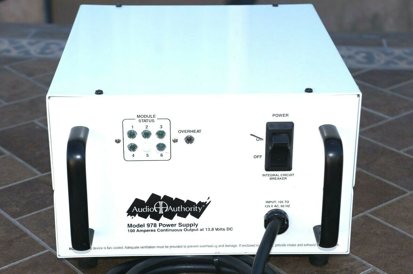 AUDIO AUTHORITY Model 978 POWER SUPPLLY SYSTEM 100 AMPERES. Buy it now for 265.00