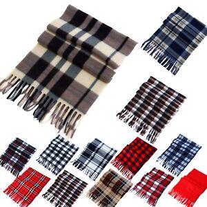 7f12bf70e60 Details about Women Men Winter Warm Scarf Cashmere Long Wrap Shawl Plaid  Knit Scarf Warm GR