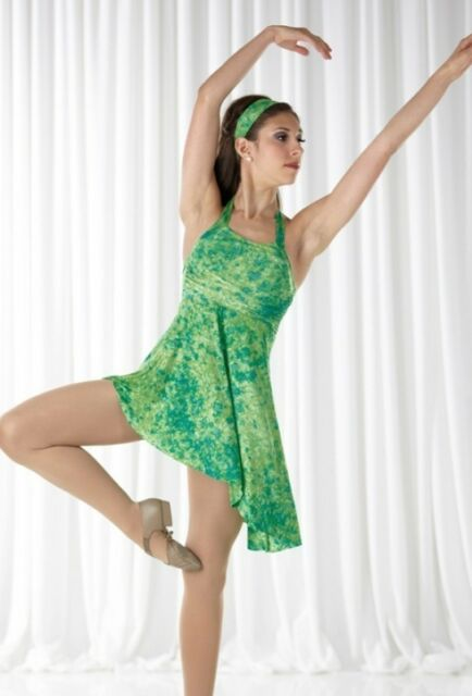 WATER LILIES Ice Skating Tap Lyrical Dress Dance Costume Adult Small & XX-Large