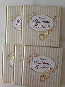 Details Zu Unsere Goldene Hochzeitfotoalbumfotobuchgoldhochzeit 5 Alben B Ware