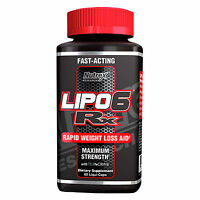 Nutrex Lipo 6 Rx Fat Burner 60 Capsules Weight Loss Lipo6 Rx Worldwide Shipping on sale