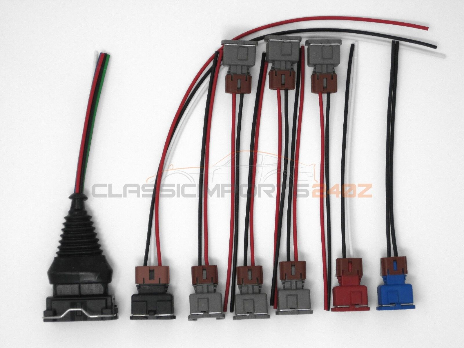 Fuel Injector MAF TPS Wiring Harness Connector Kit for Nissan 300zx on 300zx water pump, 300zx front fender, 300zx fuel filter, 300zx dash kit, 300zx bumpers, 300zx suspension, 300zx blow off valve, 300zx rear caliper, 300zx shifter, 300zx master cylinder, 300zx engine diagram, 300zx crankcase, 300zx fusible link, 300zx trunk cover, 300zx coolant temp sensor, 300zx clutch line, 300zx axles, 300zx dual fuel pump, 300zx engine swap, 300zx decal,