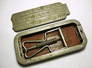 Image Is Loading Antique 1927 English Rolls Razor Safety Blade Sharpener