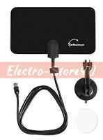 Digital Flex Indoor Antenna Leaf Flat Tv Dtv Signal Booster Hd Hdtv Uhf 25 Miles