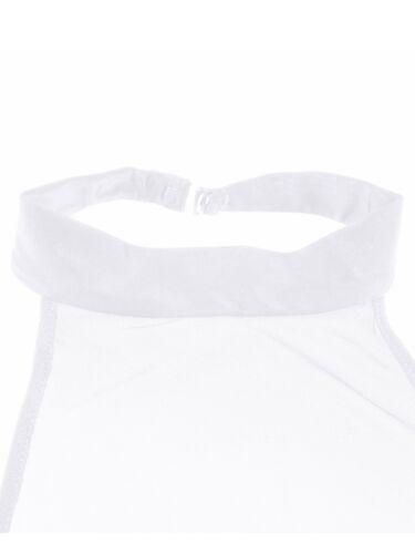 Women/'s Sheer Mesh Halter Crop Tank Top Shirt Halter Neck Cami Bra Vest Backless