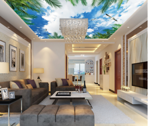 3D Green Leaf Cloud 79 Ceiling Wall Paper Print Wall Indoor Wall Murals CA Carly