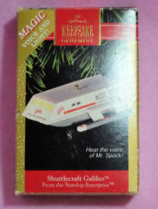 HALLMARK-1992-STAR-TREK-SHUTTLECRAFT-GALILEO-KEEPSAKE-CHRISTMAS-ORNAMENT-MIB-NOS