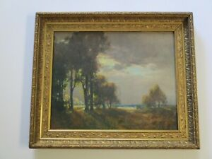 ANTIQUE COASTAL PLEIN AIR PAINTING LANDSCAPE SIGNED MYSTERY ARTIST IMPRESSIONIST