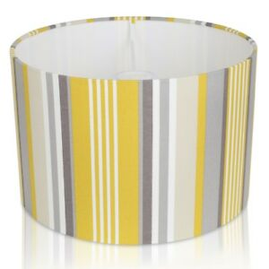 Details About Fryetts Stellar Ochre And Grey Stripe Lampshade Table Lamp Pendant Cushion