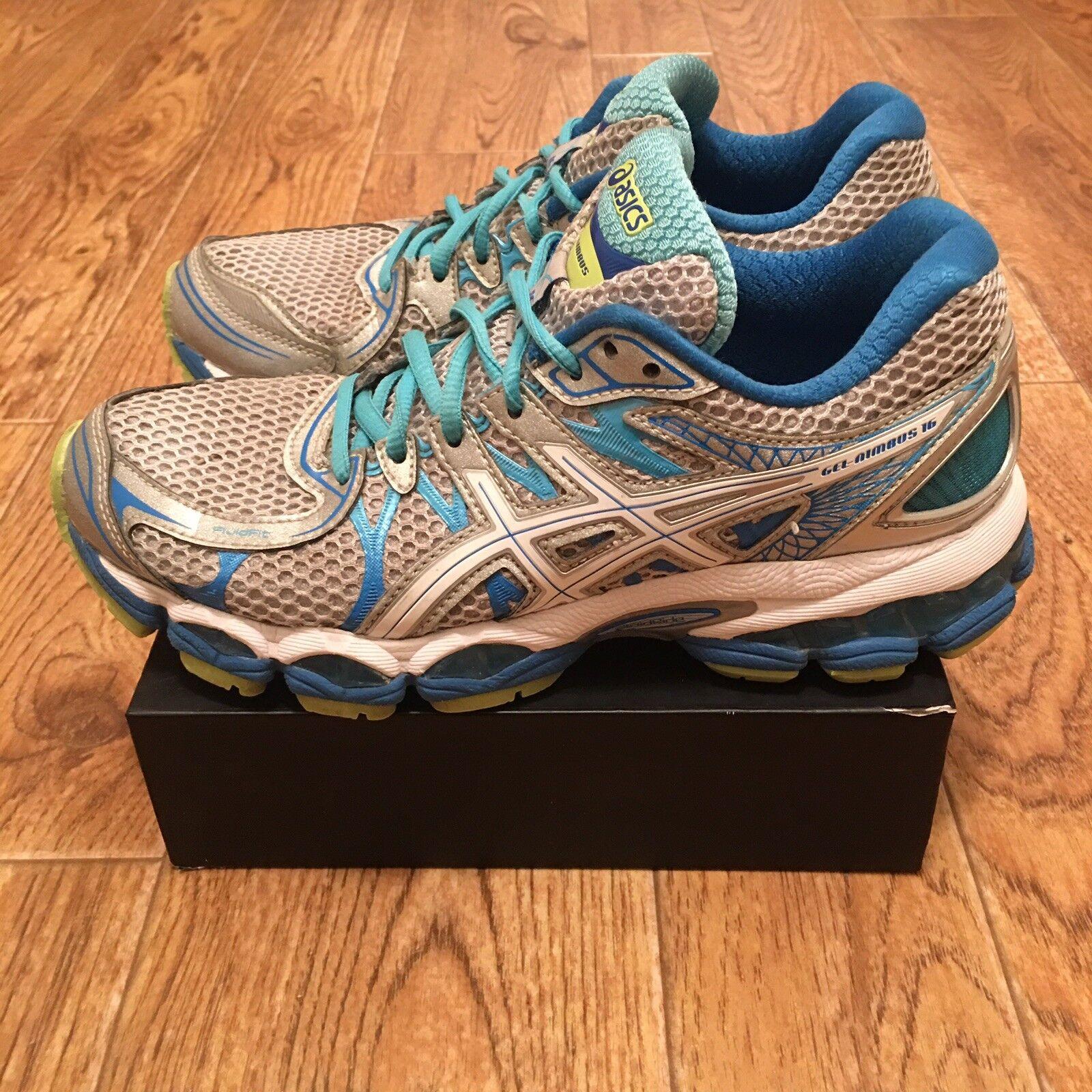 Asics Gel Nimbus 16 T485N Womens Running shoes Multi color US Size 6.5
