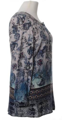 Viskose Größen Damen All muster over Longbluse Paisley Große Langarm Print Bluse wfxwAOq