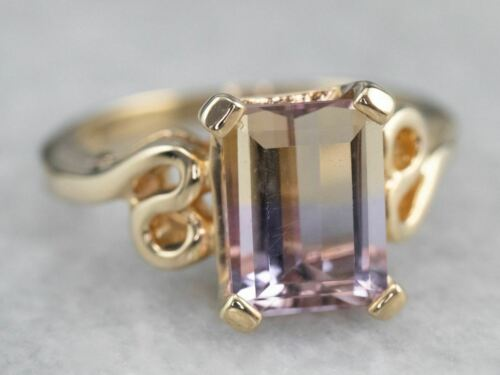 Ametrine Gold Solitaire Ring - image 1